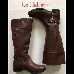 Liz Claiborne Brown Knee-High Boots